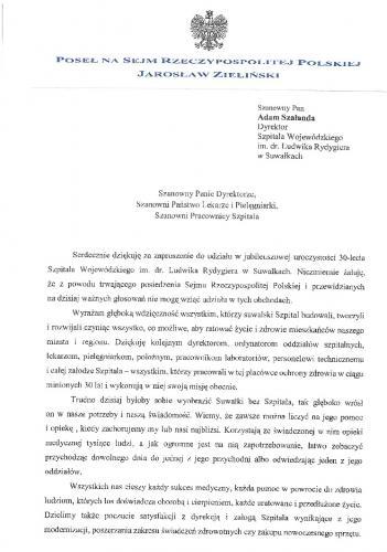 Poseł RP - Jarosław Zieliński